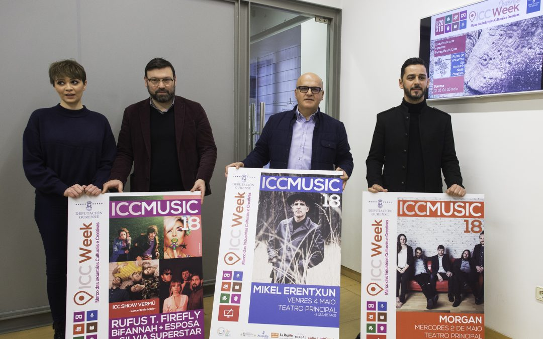 Morgan, Mikel Erentxun, Rufus T. Firefly, Silvia Superstar, Esposa e Bifannah porán a música na Ourense ICC Week