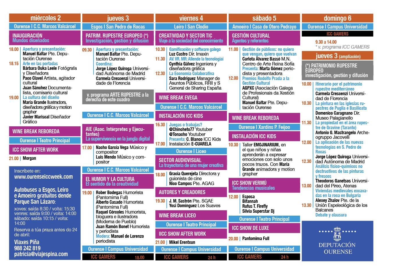 Calendario ICC Week 2017